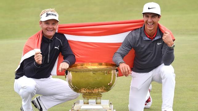 Soren Kjeldsen and Thorbjorn Olesen capture World Cup for Denmark