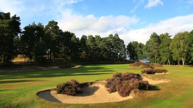 Bunkers on Sunningdale Old No. 12, Ascot, Berkshire, England
