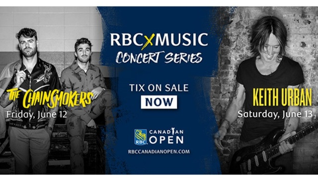 Chainsmokers, Keith Urban to headline RBCxMusic Series at Canadian Open