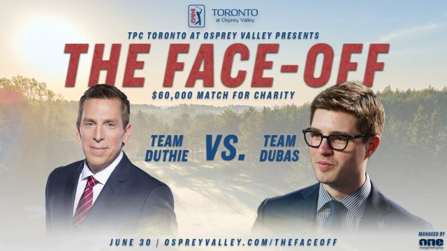 James Duthie, Kyle Dubas go head to head in celebrity match at TPC Toronto