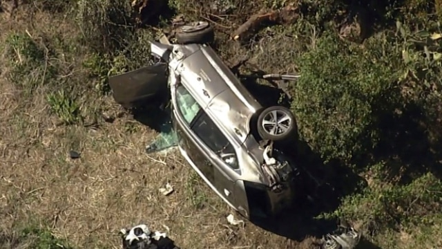 Tiger Woods seriously injured in car crash on steep LA-area road